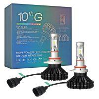 拓远光电 进口Z-ES超亮LED车大灯远近光灯 色温膜可改装颜色 #6063精工铝件散热 即插即用