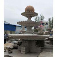 安徽石雕喷泉风水球价格_大理石风水球石雕厂家_永权雕塑