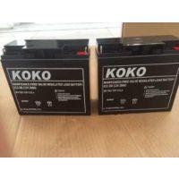 KOKO蓄电池6GFM100KOKO蓄电池12V100AH型号价格| UPS电源专用