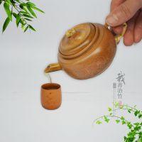 厂家货源小茶壶竹水壶功夫茶具竹工艺茶壶竹茶壶茶艺展示把玩收藏
