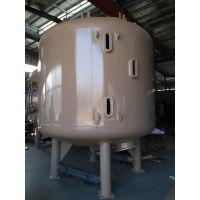 印染废水中水回用项目 50T/H 带视镜孔碳钢衬胶多介质过滤器罐体