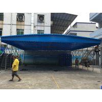 苏州市姑苏区厂家定做大型户外活动布雨蓬轮式推拉帐棚物流园遮阳篷