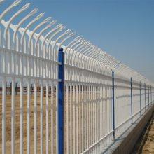广州自贸区锌钢围墙栏杆批发 珠海热镀锌小区防盗铁艺护栏价格