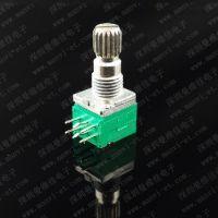 电位器曼维佳MVJ097双联密封电位器梅花柄15mm长质量好塑封旋转