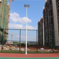 山东学校篮球场专用灯杆 一拖四球场灯杆 内外热镀锌灯杆 防腐防锈灯杆价格