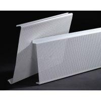 冲孔铝扣条隔音装饰天花,加油站300面专属防风铝扣板。