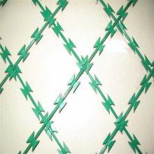 围墙刀片刺网 钢丝刺网 刺绳柱