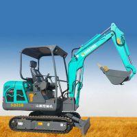开挖水沟管道用的小型挖掘机 多功能山鼎挖沟机 山地开荒改造用的小挖机