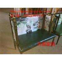 吉盈定制个性化主题餐厅家具,特色卡座,做旧椅子桌子