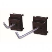 信高方孔挂板塑料底座大型单钩(孔径5mm,L100mm)XDG-002钢质钩