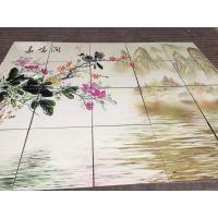 四川毛竹林瓷砖玻璃背景墙uv平板打印机雕刻上色设备