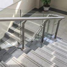 苏州新云 供应优质316不锈钢栏杆护栏、楼梯栏杆多少钱一米、玻璃立柱厂家