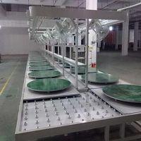 深圳正隆鑫无动力/手推滚筒输送线 滚筒组装流水线 工装板线
