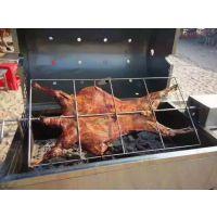 航远木炭自动翻转烤全羊炉|单只炭烤全羊设备|卧式烤整只羊的炉子
