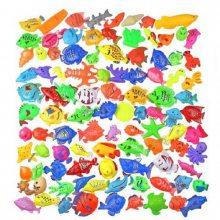 洛阳儿童钓鱼玩具磁铁假鱼钓竿塑料渔网心悦游乐厂家直销