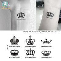 环保防水纹身贴 小清新皇冠英文图案文身贴纸 纹身贴纸定做HC1130
