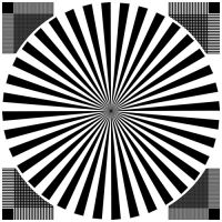 sineimage赛麦吉/ESSER爱莎摄像机、镜头分辨率测试卡带网格西门子之星标定板