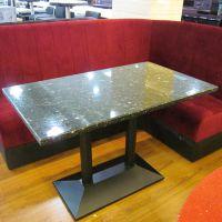 海德利中式 简约现代 中式家具 人造玉石餐桌 仿玛瑙餐桌 大理石餐桌