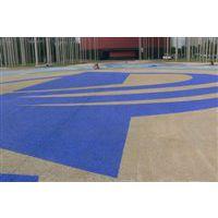 上海广布工厂供应新型高透水彩色生态透水砼地坪 耐磨路面施工江西重庆