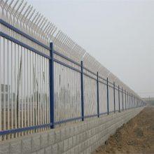 教育园区围墙护栏 工厂围墙栏杆 锌钢护栏价格