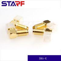 SMA-KWE全铜镀金连接器,高频SMA-KWE射频弯式90度通讯用