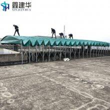 新昌县订做高空雨棚布 围布折叠伸缩帐篷 加强型户外遮阳蓬厂家直销