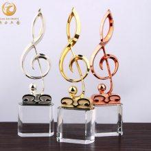 音符比赛奖杯,歌唱比赛奖杯,歌咏比赛奖品,红歌比赛奖品,水晶奖杯制作