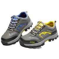 高密现货耐磨劳保鞋 防砸防刺穿超纤皮透气网钢头钢底安全防护鞋