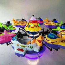 秋冬季户外新款儿童游乐设备有哪些 6座8座旋转升降木马必选设施