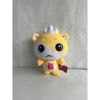 毛绒玩具厂家定制企业吉祥物公仔 按图片订做加工超柔短毛绒材质吉祥物