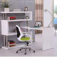 创意旋转台式电脑桌家用转角写字台办公桌简约现代书桌带书架组合