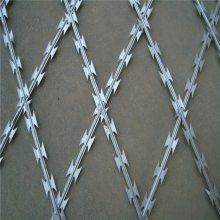 刀片刺绳图片 刀片刺绳围栏 刺丝防护网安装