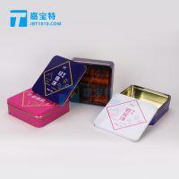 厂家直销云南玫瑰鲜花饼包装铁盒甘肃苦水玫瑰饼包装金属马口铁盒铁罐