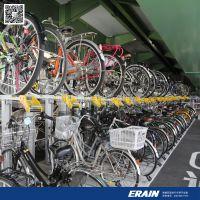双层自行车停车架工程 专业从事双层自行车架生产 铝合金材质 耐腐蚀