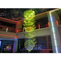 酒店大堂现代水晶光纤灯 走廊造型特别光纤灯