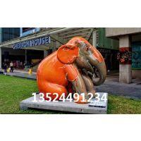 卡通玻璃钢大象景观-时尚创意大象装饰雕塑-彩绘工艺雕塑