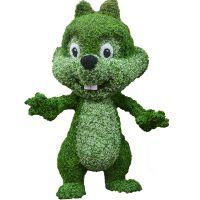 浩晟 仿真熊猫室外装饰落地绿雕 室外植物 定制仿真产品