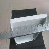 加油站钢构棚专用粉末喷涂烤漆白色铝条扣板平面吊顶