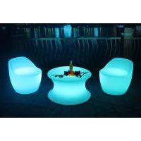 定制户外家具 藤椅 LED发光家具 滚塑模具