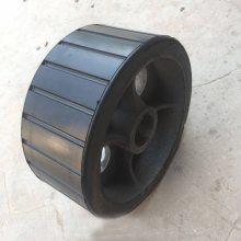 JZM350搅拌机摩擦轮 直径300mm 厚度130mm 内孔54mm 搅拌机胶轮滚轮托轮