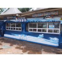 厂家定制 大型玻璃钢小卖部海洋主题雕塑