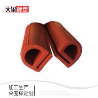 e型硅胶耐高温密封条硅橡胶胶条加工定制