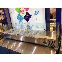 雅绅宝VRX15A自助餐厅桌上展示柜 食品保鲜柜 小型冷藏冰柜 西餐厅展示柜 快餐店保鲜柜
