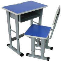 一次性注塑封边板单人位课桌椅,升降课桌椅,厂家直销金属好椅达学生台
