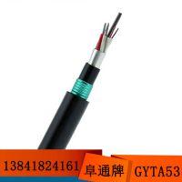 层绞式GYTA53-36B1光纤 36芯地埋重铠光缆 铠装双护套国标光纤线