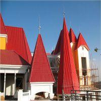专供陕西 古风建筑屋顶 设计安装 765琉璃瓦金属屋面装饰浙江金铄厂家