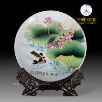 高档手绘纪念盘摆件_家居装饰赏盘陶瓷纪念圆盘