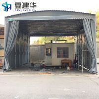 西城区大型工业仓储防雨棚活动伸缩蓬电动推拉帐篷PVC帆 布雨棚定做