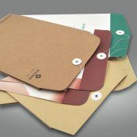牛皮纸a3 a4档案袋 logo定制纸质暗扣文件袋  定做白牛皮纸包装