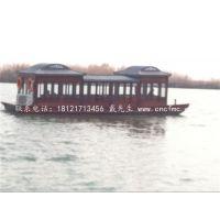 画舫木船餐饮船价格哪里有 楚风木船制造厂规格大小可定制